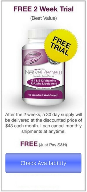 A free 2 week trial of Nerve Renew Neuropathy Support Formula by The Neuropathy Treatment Group