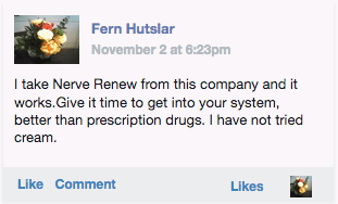 A customer review from Fern Hutsler