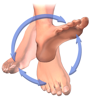 Ankle rotation is a great foot exercise for neuropathy