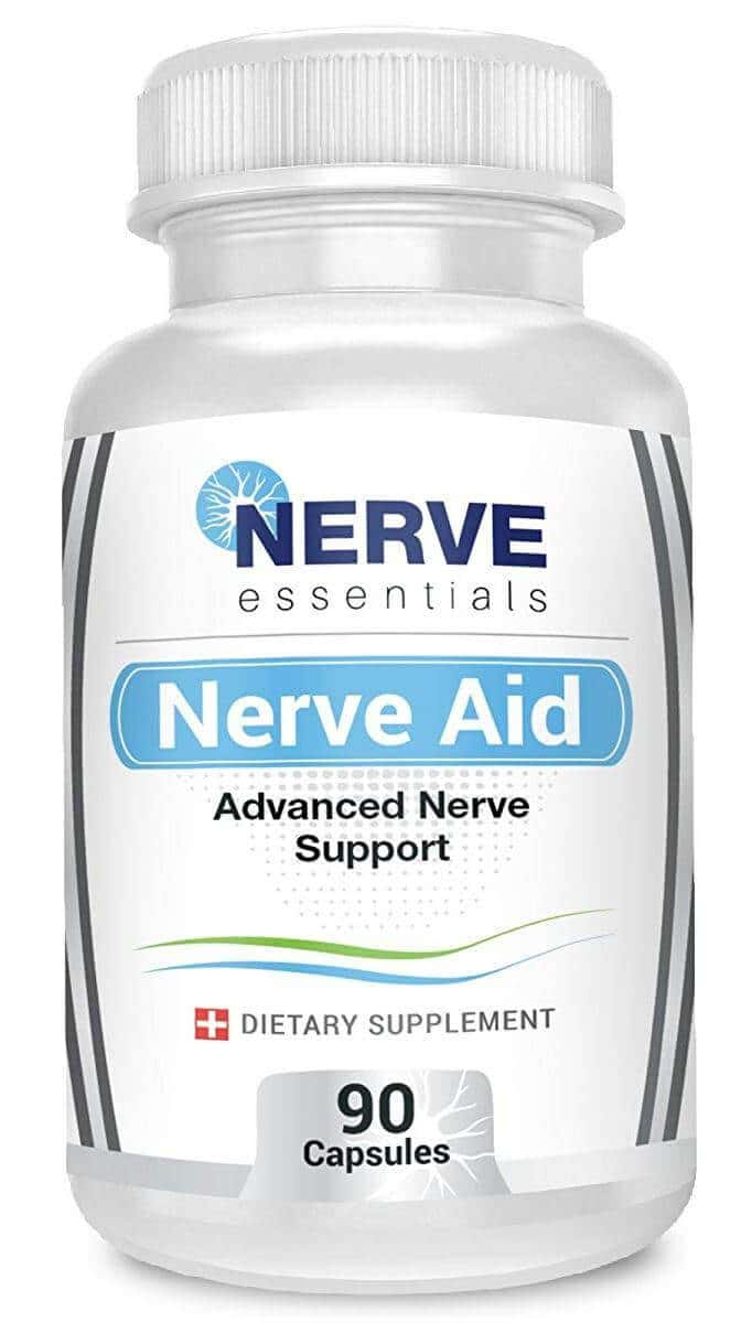 A bottle of Nerve Aid neuropathy supplement
