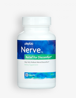 A bottle of Plexus Nerve neuropathy supplement